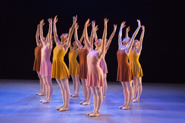 "The Portland Ballet performs ""Everything Slightly Rosy,"" choreographed by Anne Mueller. Photo credit: Blaine Truitt Covert"