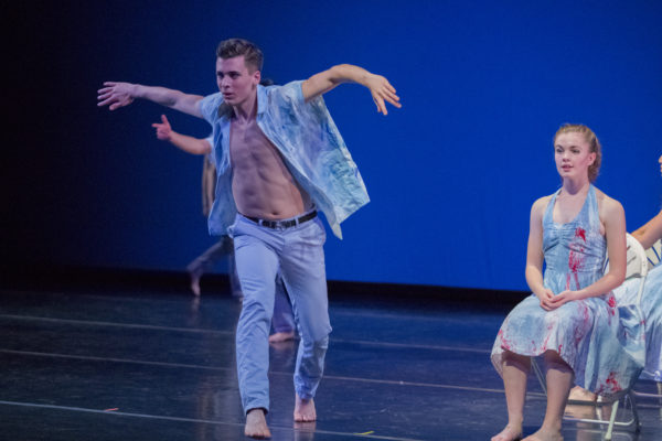 "The Portland Ballet dancer Nick Juice performs ""Us,"" choreographed by Josie Moseley. Photo credit: Blaine Truitt Covert"